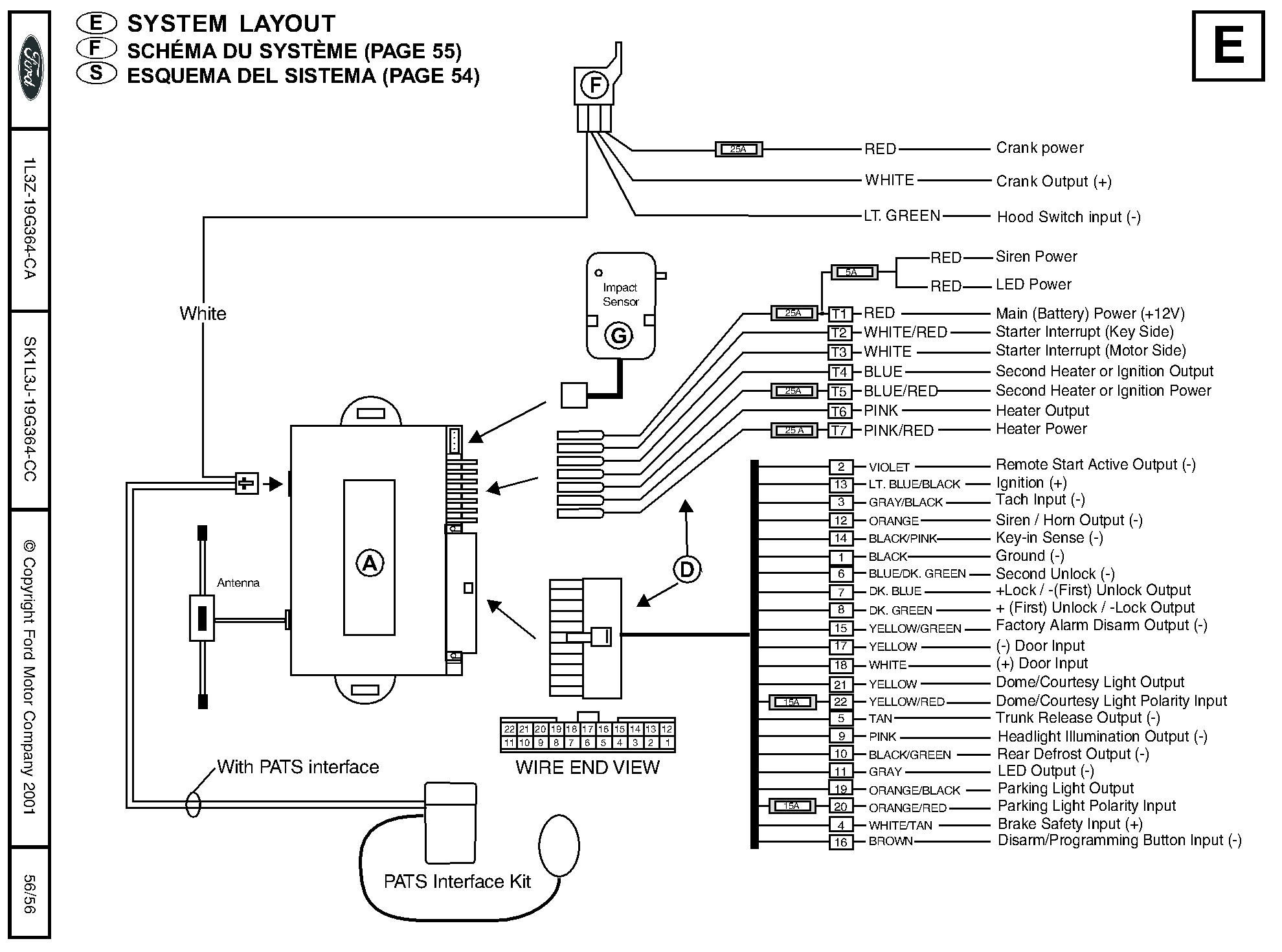 ford remote starter and alarm installation car starter wiring diagram