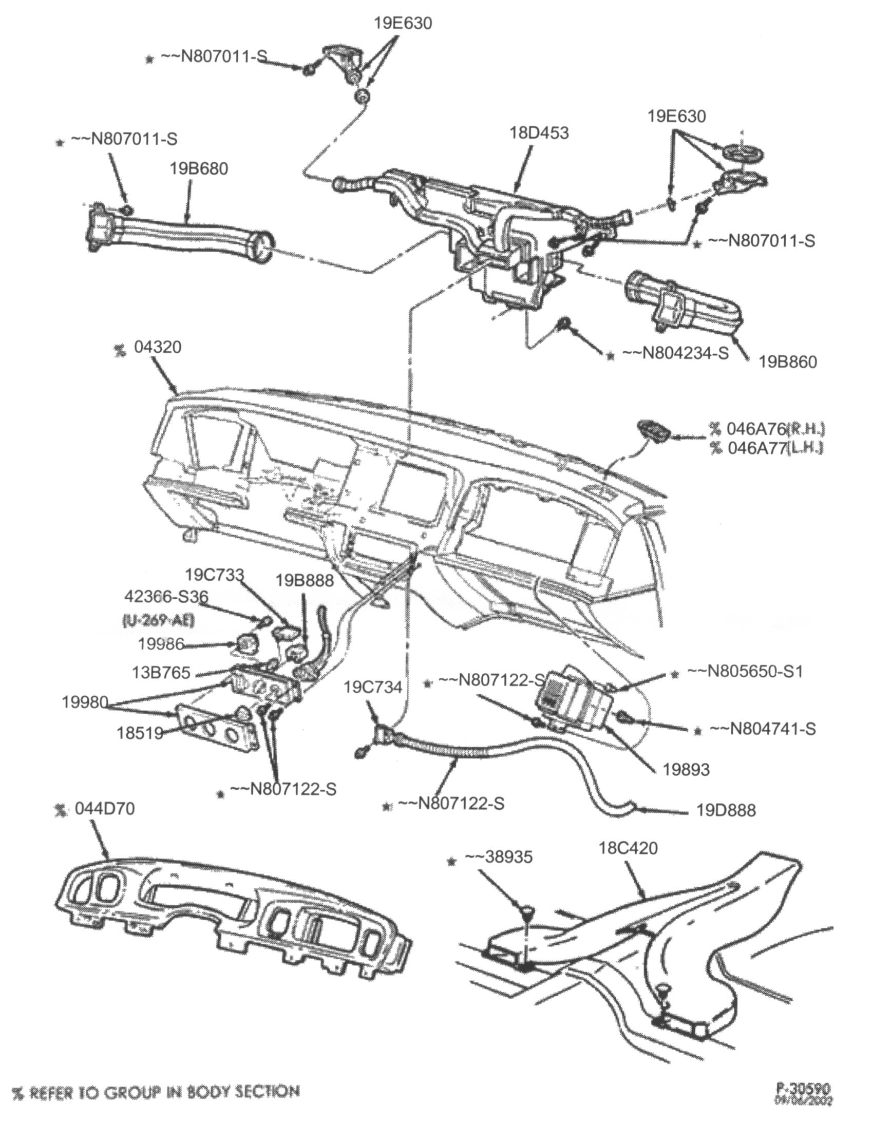 Ford Crown Victoria Stereo Radio Installation Tidbits Pioneer Double Din Wiring Diagram Some Vic Owners Prefer To Keep The Factory Look Their Install A Few Have Swapped In Radios From Other Vehicles Such As Explorers